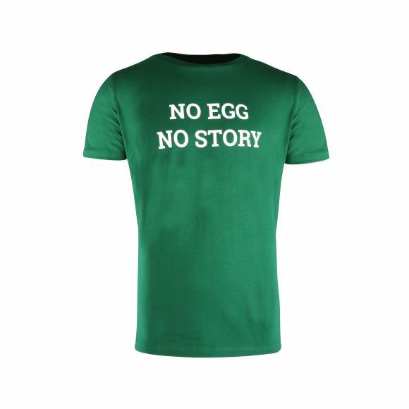 "T-Shirt ""No Egg No Story"" green"