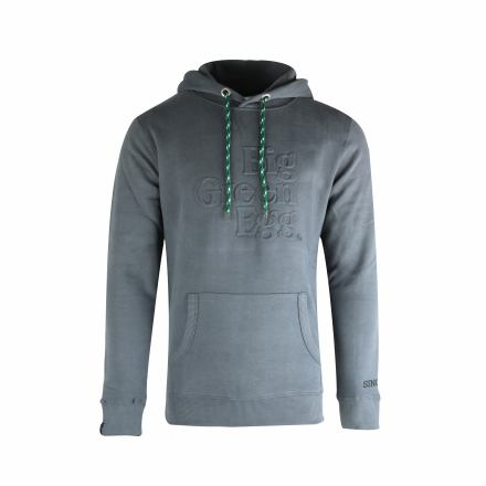 "Hoodie ""Big Green Egg"" dark grey"