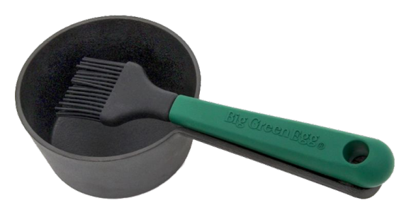 Gusseisen Saucentopf mit Pinsel