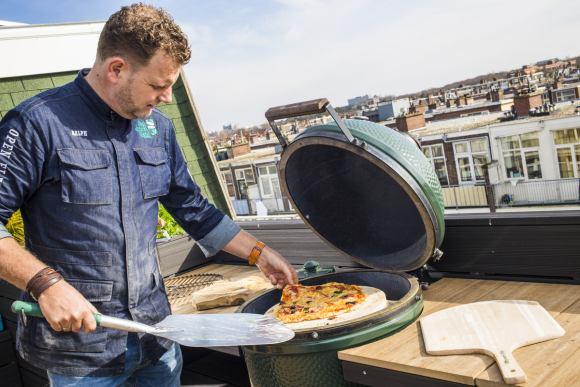 Flacher Back- und Pizzastein